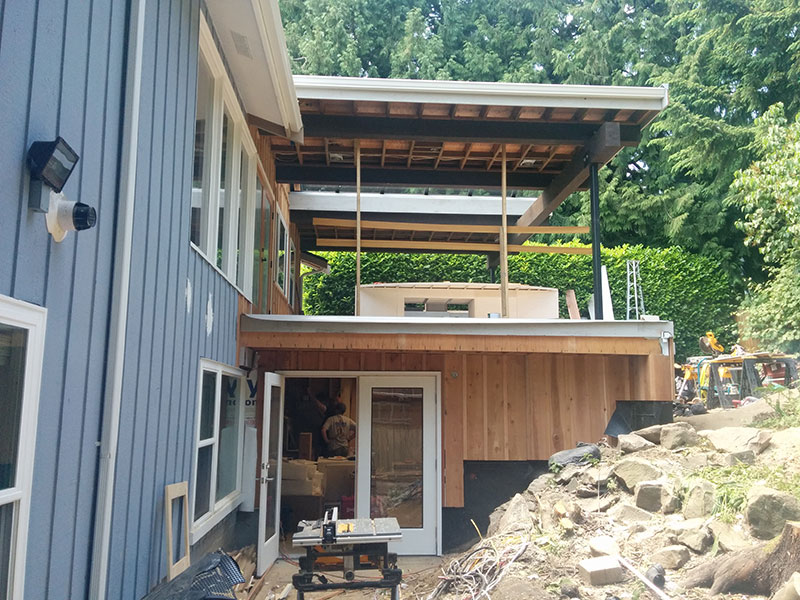 Outdoor Kitchen Roof Installation