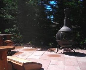 Portable firepit installed by Kirkland Landscape Company, Environmental Construction