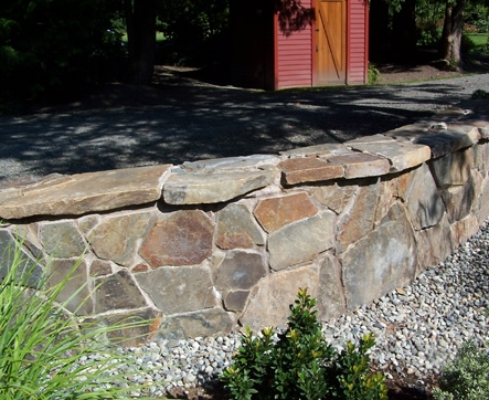 Rock wall designed by Environmental Construction