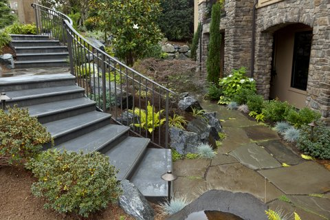 Metal steps installed by Environmental Construction Inc. in Kirkland WA